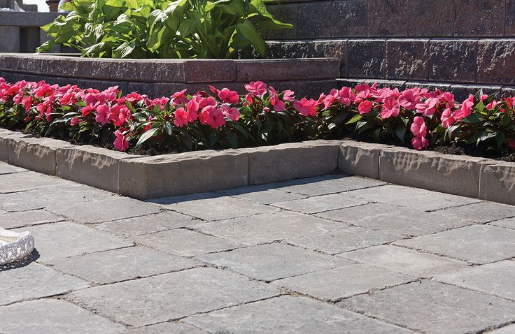 A top performer in both curved and linear landscape designs with a unique, textured profile.