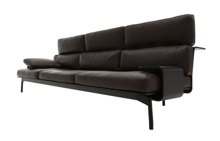 Canap contemporain en cuir par rodolfo dordoni 288 sled cassina ca - Canape cuir moderne contemporain ...