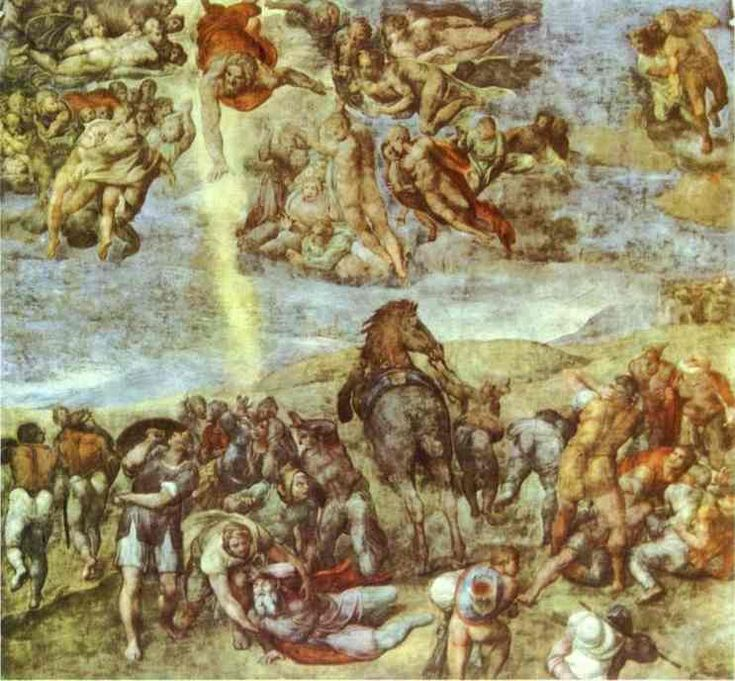 michelangelo artwork | Conversion of Saint Paul. 1542-1545. Frescoes. Pauline Chapel, Vatican