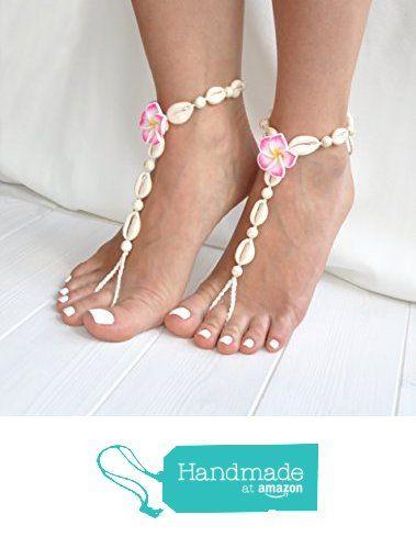 Seashell Barefoot Sandals, Hawaii Wedding Foot Jewelry, Beach Wedding and Boho…