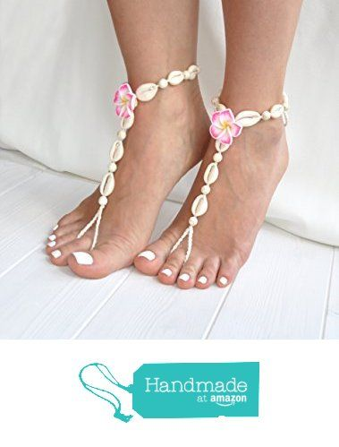Seashell Barefoot Sandals, Hawaii Wedding Foot Jewelry, Beach Wedding and Boho…