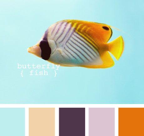 Orange & Turquoise Color Palette - Coastal/Beach Interior Design