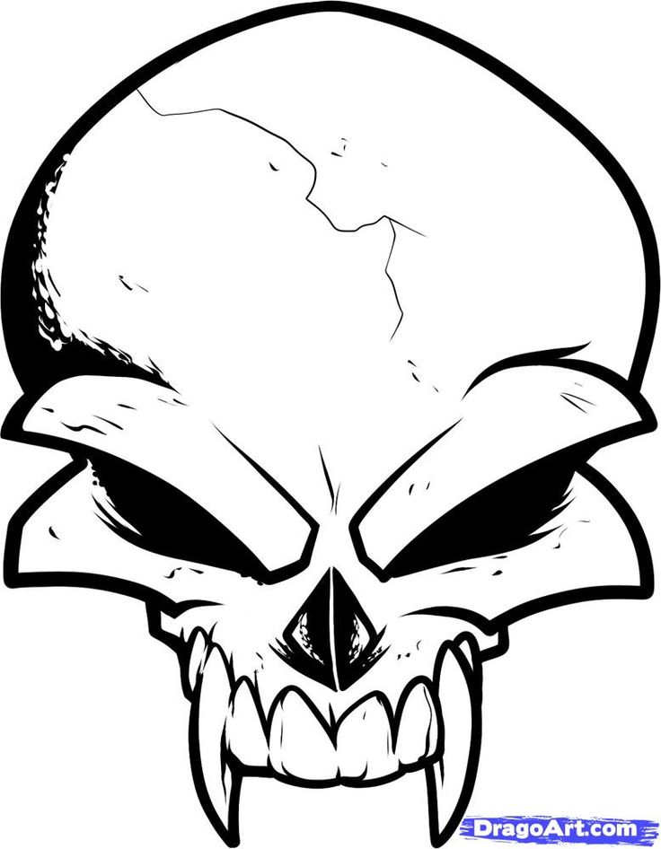 Learn How to Draw a Skull Tattoo Design, Skull Tattoo Design ...