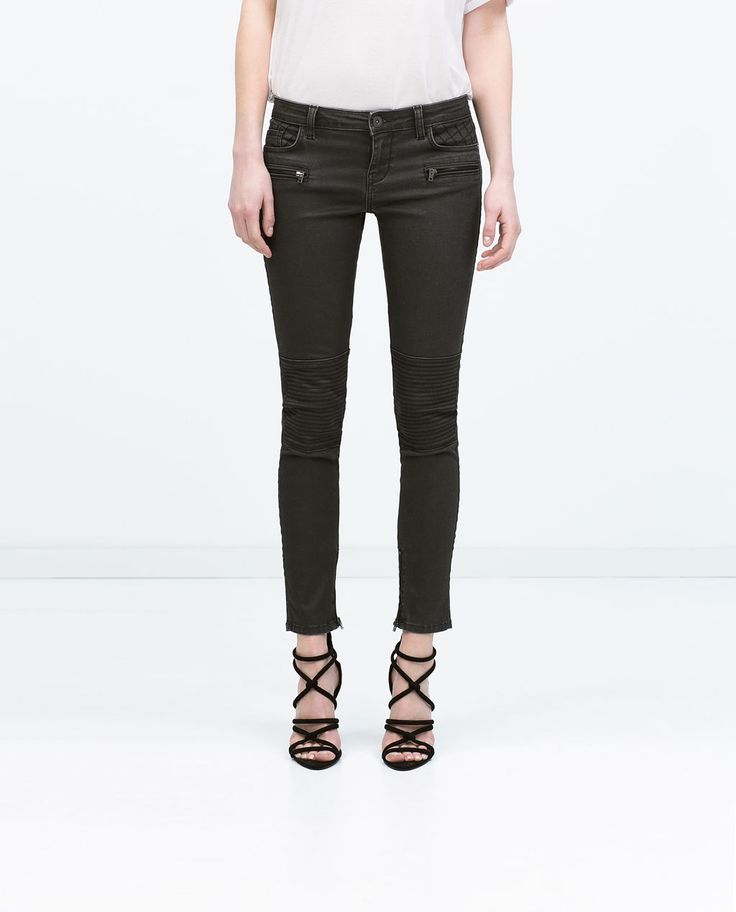 BIKER TROUSERS-View all-Trousers-WOMAN | ZARA United States