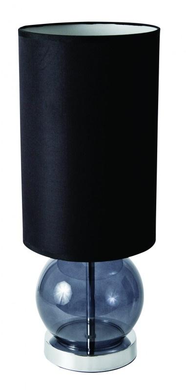 Schemerlamp 45cm Zwart Glas S