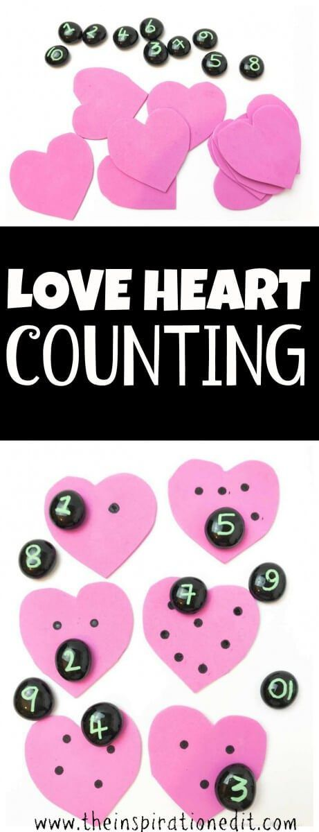 Today I am sharing a fun and easy number activity for the kids. #preschoolers  #Valentinesday #crafting #craftsforkids #kidscraft #art #valentinesideas #valentines #mathgames #craftsforkids #crafting #mathspuzzle #mathactivities  #preschoollife