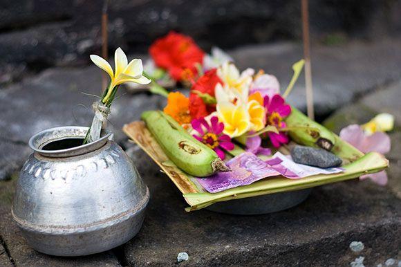 Balinese Offering in Ubud, Bali