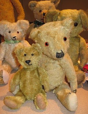 Vintage Teddy Bears. My favorite friend as a child was a teddy bear. His name was Ted and I told him everything, who these days looks like the guy on the right.