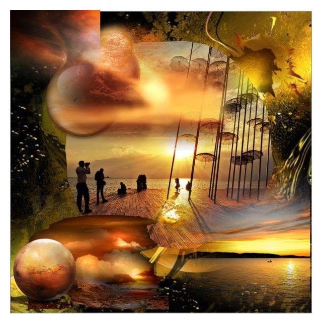 """Umbrellas"" of Thessaloniki,Greece #2 by evachasioti on Polyvore featuring art"