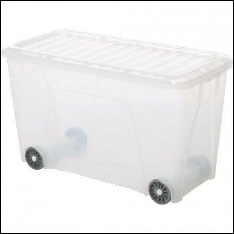 Plastic Storage Container with Wheels