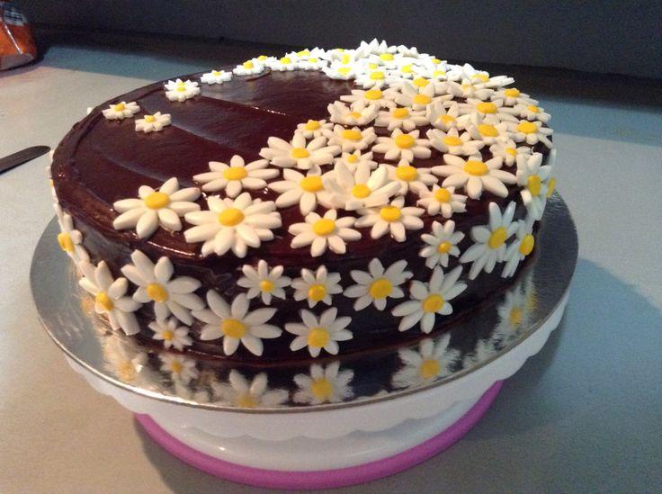Daisy wave Choc Jaffa Flavoured birthday cake