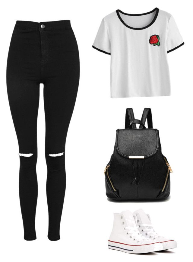 """How to Wear Casual"" by adrienne-difoggio on Polyvore featuring Topshop and Converse"