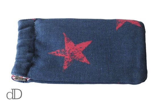 Glasses / Sunglasses Case in Stars and Stripes Linen