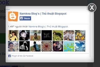 Khung hộp/box like fanpge trôi nổi dạng Lightbox cho Blogspot Blogger  Để nâng cao trải nghiệm người dùng tốt hơn hộp chỉ xuất hiện một lần duy nhất khi người dùng vào website và chỉ xuất hiện trở lại khi khởi động lại máy tính!  anhtoan.net sẽ hướng dẫn bạn cùng các bạn khác thủ thuật này đây. Thủ thuật blog này có tên là[Tips] - Khung hộp/box like fanpge trôi nổi dạng Lightbox cho Blogspot Blogger. Cách thực hiện nó vô cùng đơn giản.  Live Demo  Lợi thế của thủ thuật[Tips] - Khung hộp/box…