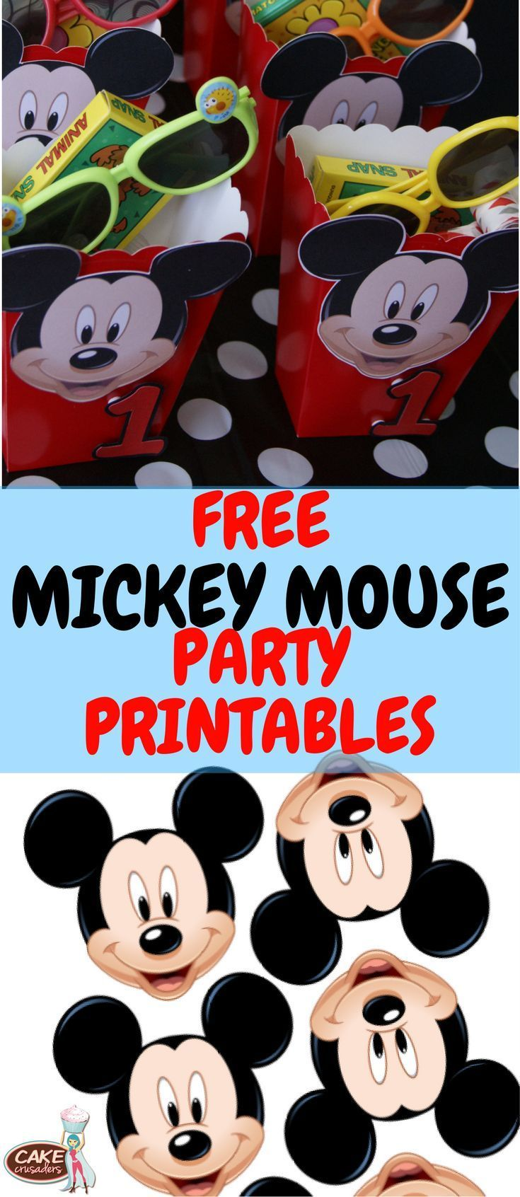 Free Mickey Mouse DIY favor printables
