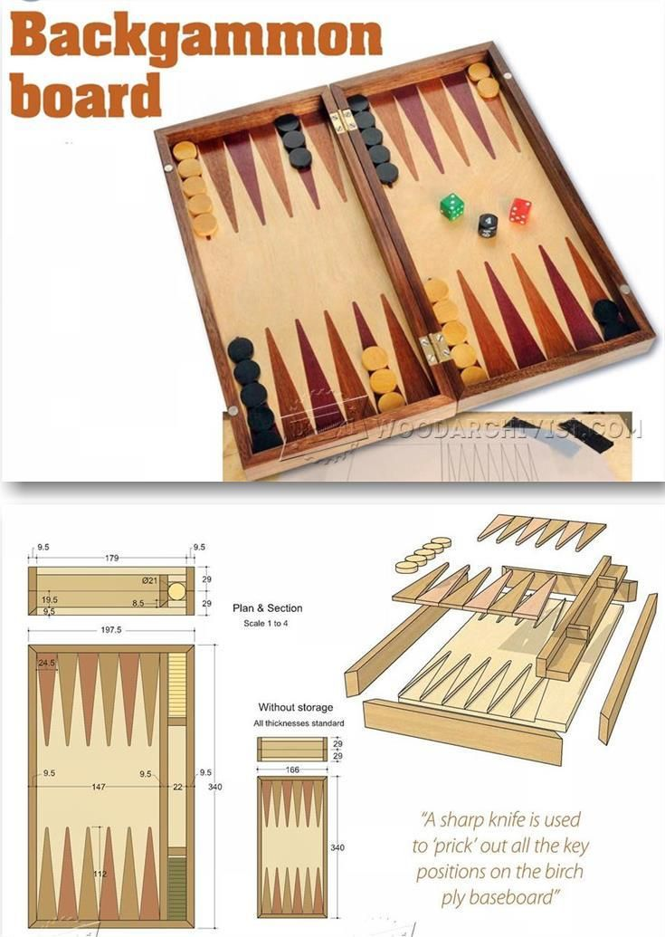 Backgammon Board Plans - Woodworking Plans and Projects | WoodArchivist.com