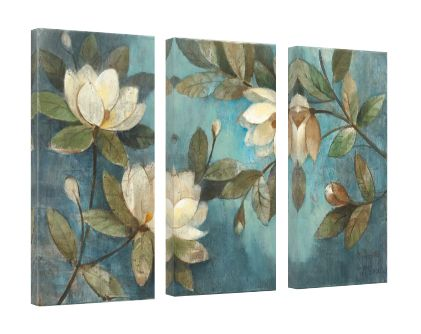 Floating Magnolias 3 panels