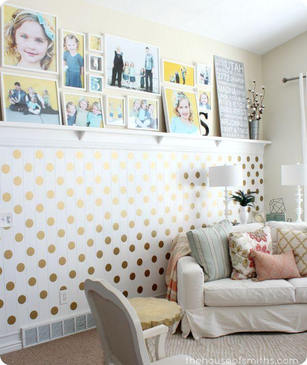 Love this DIY Gold Polka Dot Accent Wall @Matt Valk Chuah House of Smiths