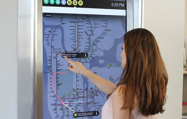 The New York City Metropolitan Transit Authority (MTA) partnered with design firm Control Group to create a system of touchscreen kiosks that feature real-time information and all the help you might need to navigate the city via the subway system.