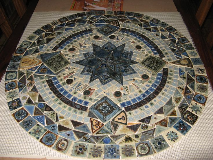 Mosaic Tiles. Installation. Garden. Table. Swimming Pool Art. Hobbies. DIY. Lalele Pottery.