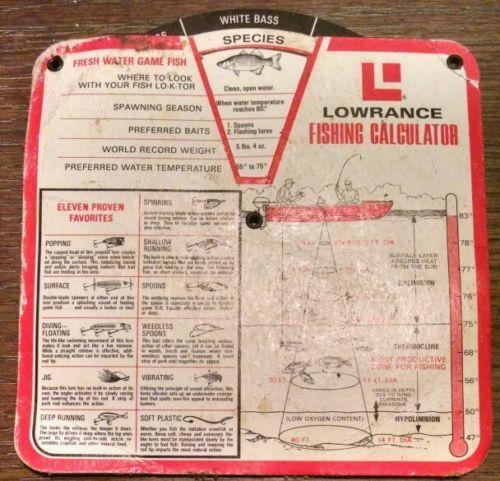 Vintage-Lowrance-Fishing-Calculator-Sonar-Signal-Interpretation-Fish-Finder