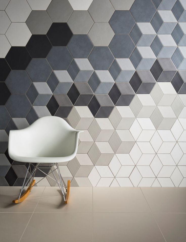 3) Geometric Patterns. Hexagons are one of my absolute favorite shapes to design with! They fade colors together and your mind can imagine cubes, blocks, 2D, or 3D shapes. They make almost anything look modernistic or very old.
