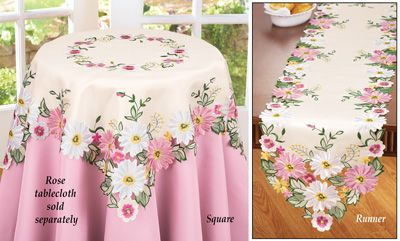 #29924 Embroidered Floral Gerbera Daisy Table Runner by sensationaltreasures