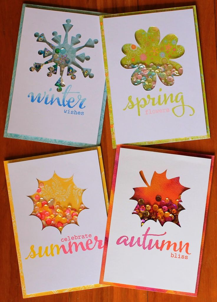Leading Lady Lyndal Higgins | Take Three - Seasonal Shaker Cards - featuring The Big, the Bold and Seasons stamps and Digital Elements: A Tree for All Seasons and The Big, the Bold and Seasons. #winniewalter