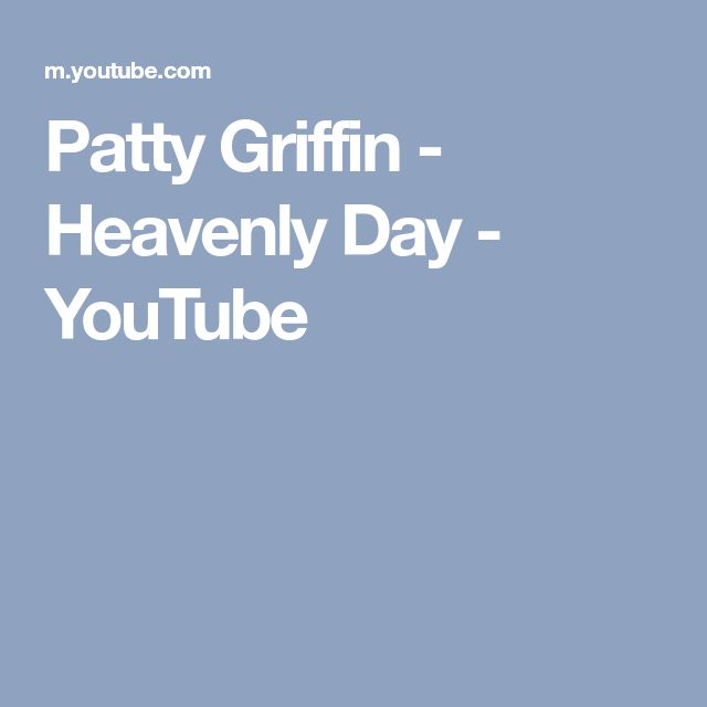 Patty Griffin - Heavenly Day - YouTube