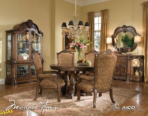 Windsor Court, Windsor Court Round Pedestal Table Dining Room Set, Dining  Room Table Sets, Bedroom Furniture, Curio Cabinets And Solid Wood Furniture  ...