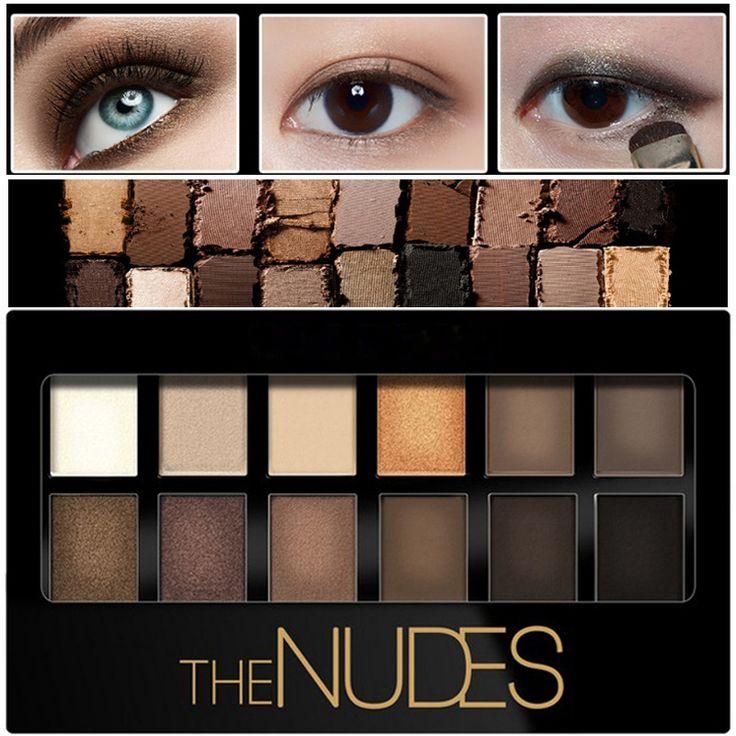 12 warna Pigmen Glitter Matte Eye Shadow Merek Kosmetik Mata Makeup Telanjang Bronzer Palette Nude Eyeshadow Kit