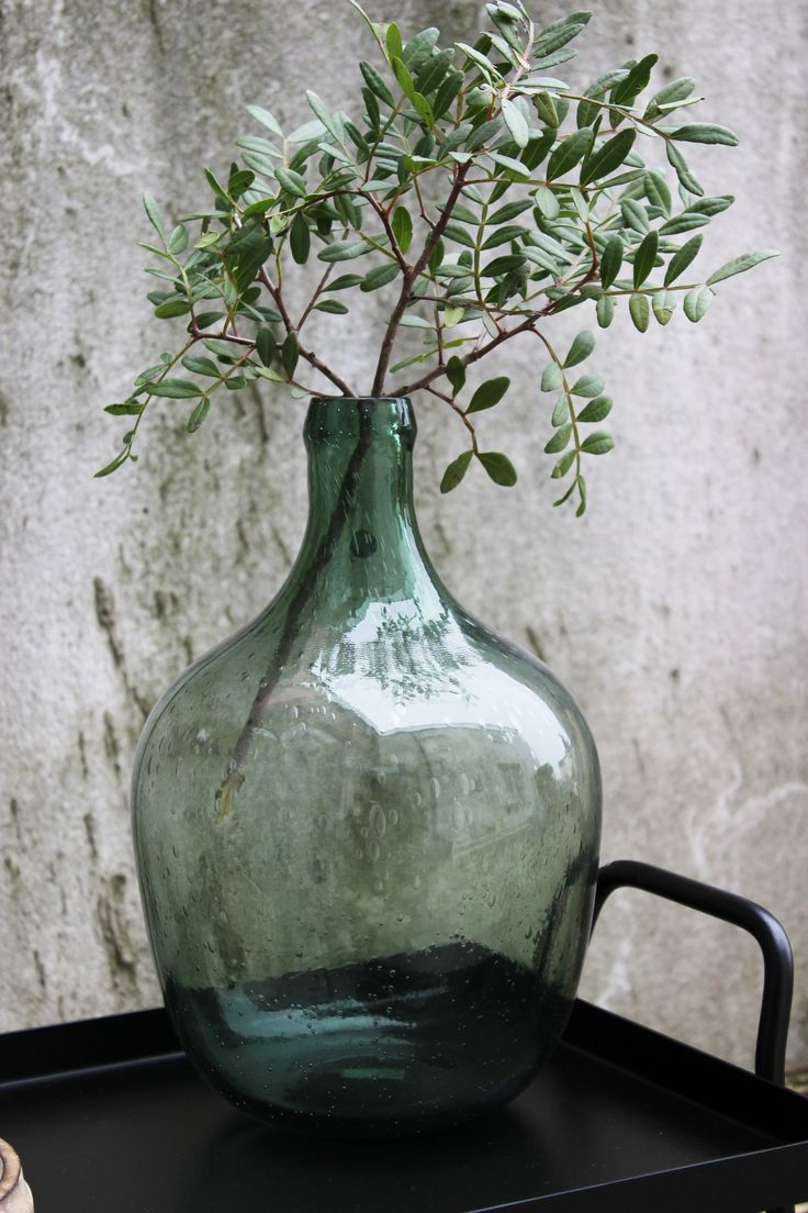 Green Glass bottle Vase €34