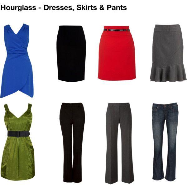 """""""Hourglass dresses, skirts & pants"""" by stylesessions on Polyvore"""