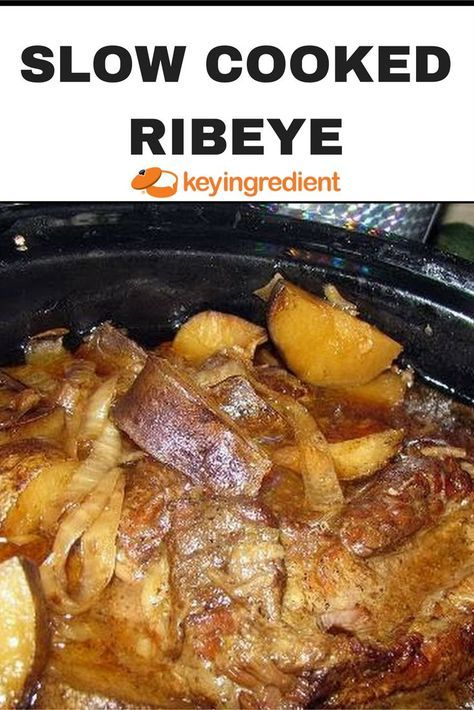 Slow cooking a ribeye steak melts the fat which easily incorporates all of the spices creating great flavors. Adding potatoes and onions makes it an easy, delicious meal.