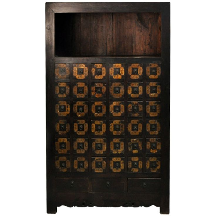 Chinese Medicine Cabinet | From a unique collection of antique and modern apothecary cabinets at https://www.1stdibs.com/furniture/storage-case-pieces/apothecary-cabinets/
