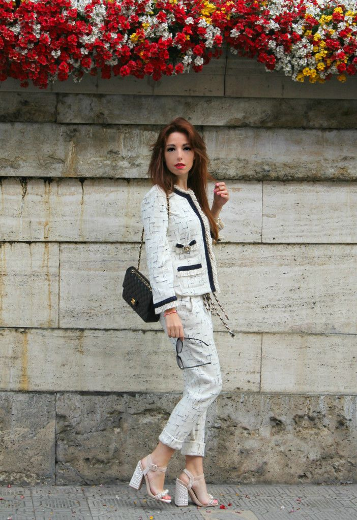 8 elisa bellino outfit of the day fashion outfit chanel shirt a porter