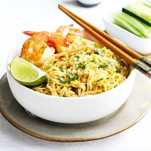 Тайская лапша в ореховом соусе (лапша сатэй): рецепт