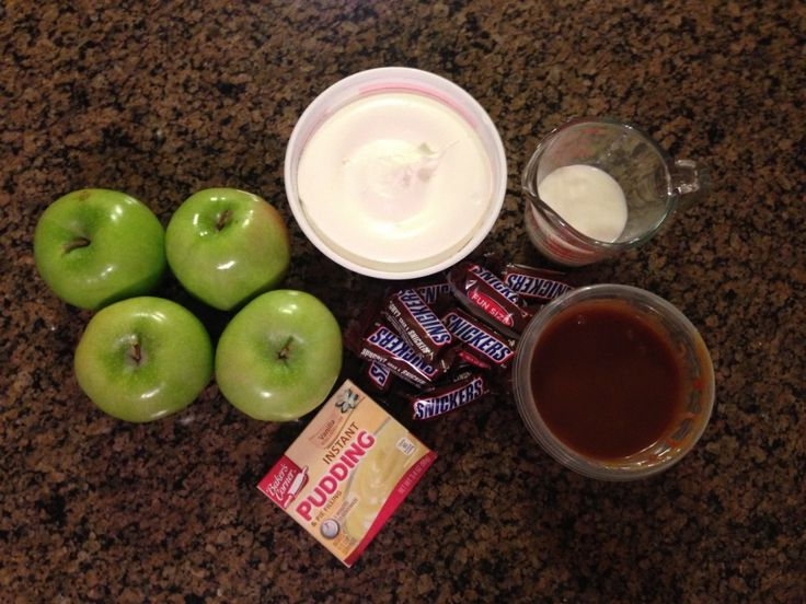 Snicker Taffy Apple Salad Ingredients