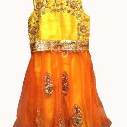 kids frock with raw silk flower - Google Search