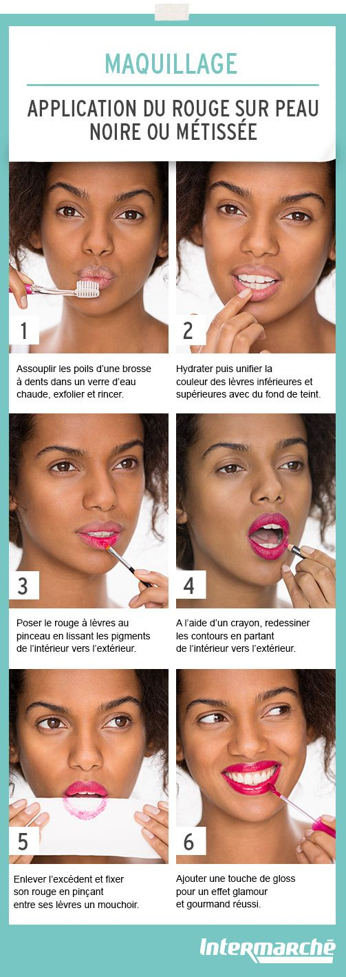 Réalisez une bouche parfaite sur une peau noire ou métissée en quelques gestes. #tutoriel