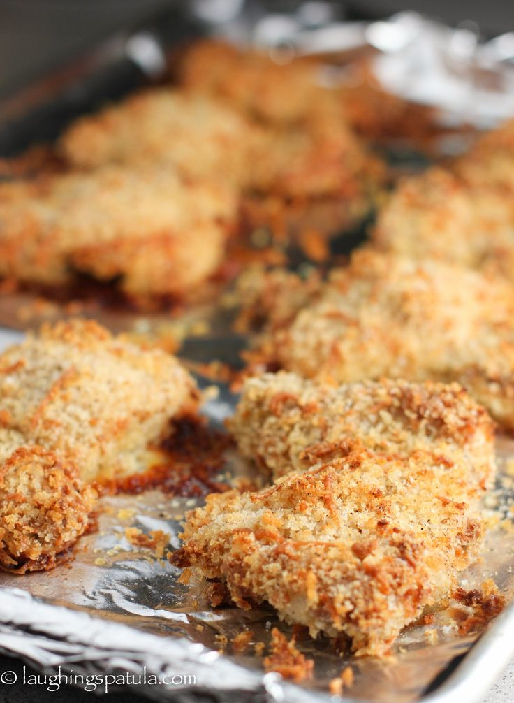 Butter-Dijon-Parmesan Crusted Oven Baked Chicken Thighs