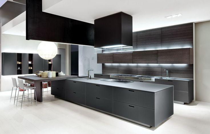 Кухня/столовая в  цветах:   Белый, Серый, Черный.  Кухня/столовая в  стиле:   Минимализм.