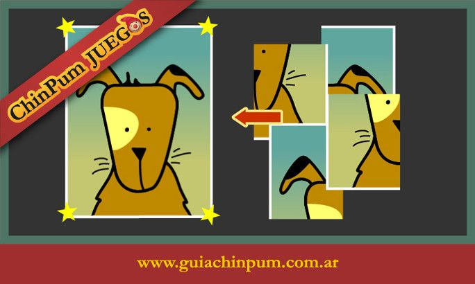 Rompecabezas online para niños desde 3 años. Puzzle con perrito. Mamás online! #Puzzle4Piezas #JuegosEducativos #ChinPum