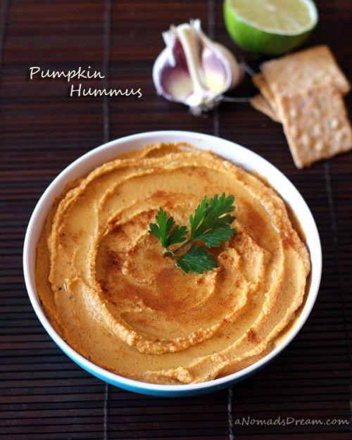 Homemade Pumpkin Hummus t