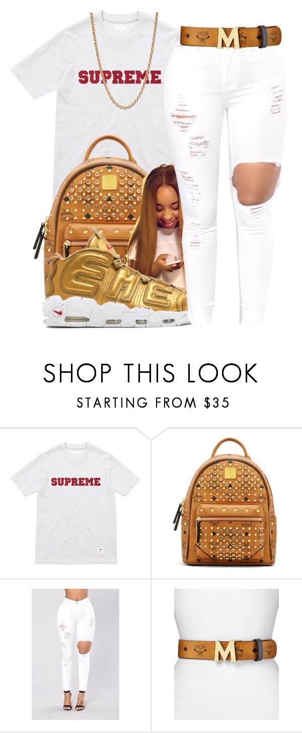 """Preme✨"" by maiyaxbabyyy ❤ liked on Polyvore featuring MCM, NIKE and Givenchy"