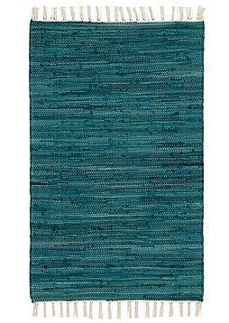 Pirta Rasmus-räsymatto turkoosi, 80 x 150 cm, 14,95€. Kodin1.