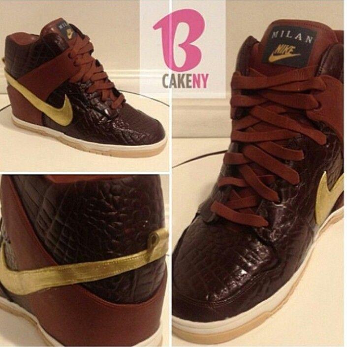Nike Sky Hi Milan sneaker cake by B Cake NY