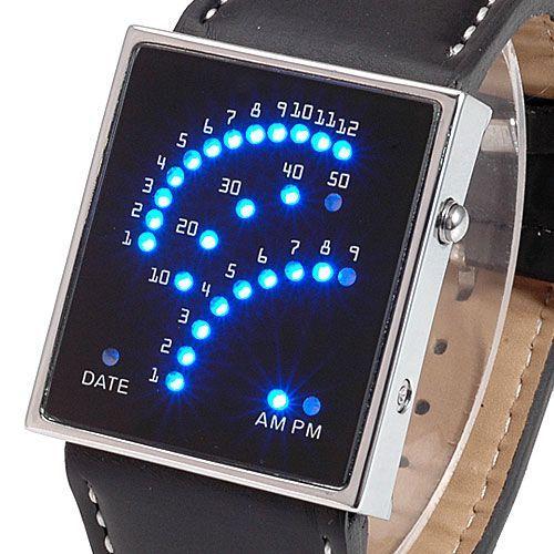 A Speedy Leather LEDes óra megvásárolható a www.partyfashion.eu oldalról. 29 darab, fényesen világító kék LED hivatott a dátum és az idő kijelzésére. A megrendelést a www.partyfashion.eu oldalon lehet leadni.
