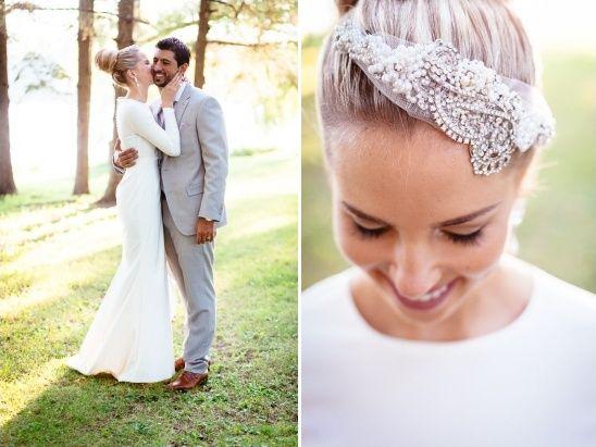 wedding headband by Chapeaux de Madelaine