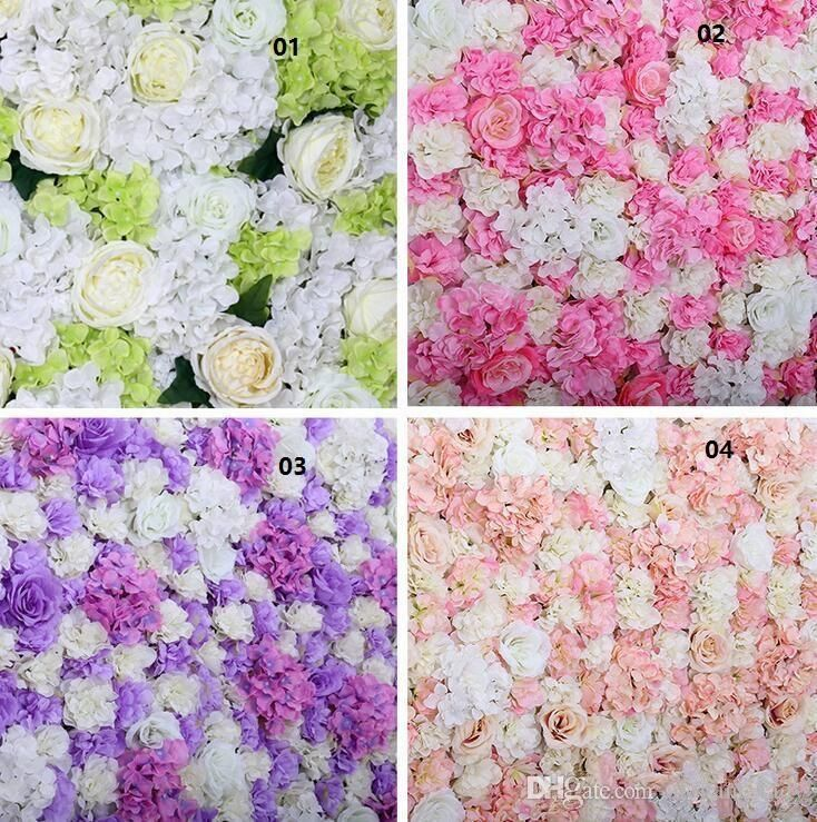 Romantic Artificial Flower Wall Panels Floral Decor for Wedding Venue Decor